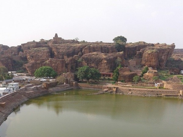 Badami photos, Beautiful Tank view1