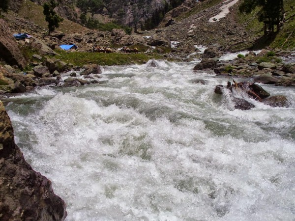 Pahalgam photos, Aru - River Flowing