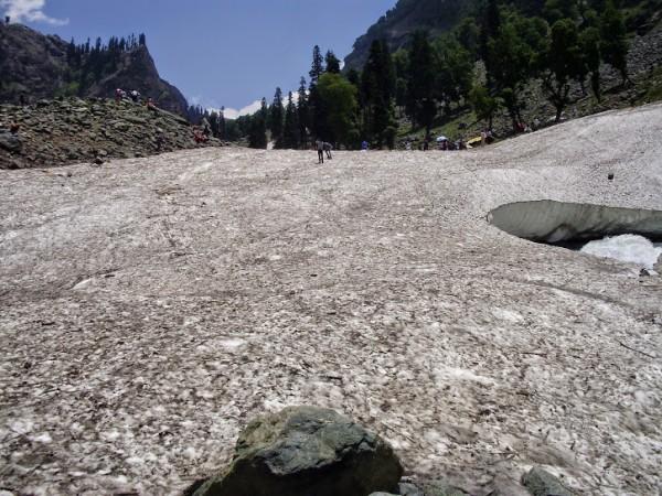 Pahalgam photos, Chandanwari - Chandanwari glacier in Pahalgam