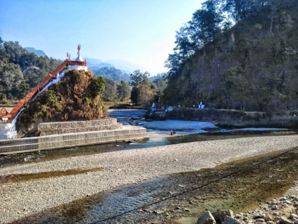 Corbett National Park photos, Garjia Temple - Side View