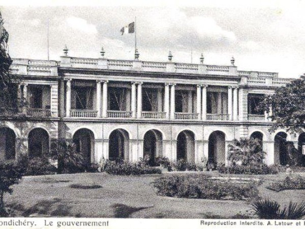 Pondicherry photos, Raj Niwas - Governor_'s_Palace_Then