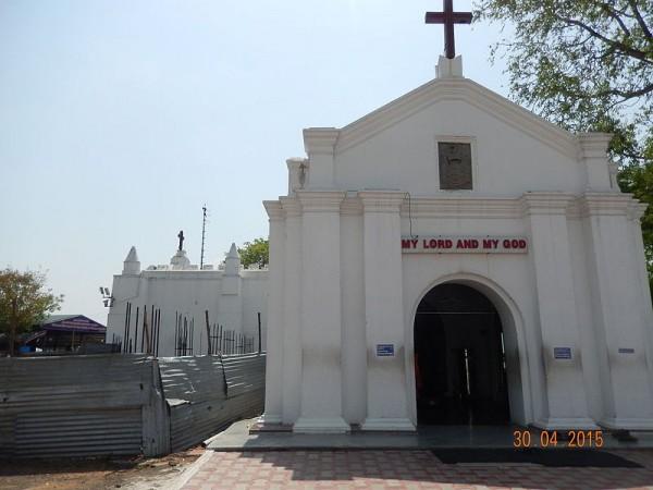 Chennai photos, St. Thomas Mount - Front view of the Church