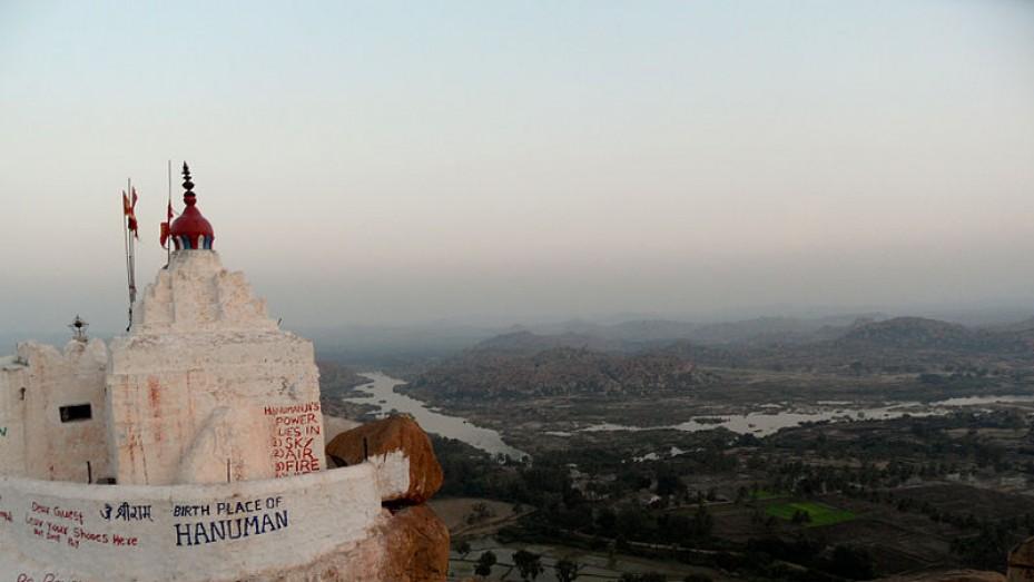 Image result for यंत्रोधारक आंजनेय मंदिर hampi
