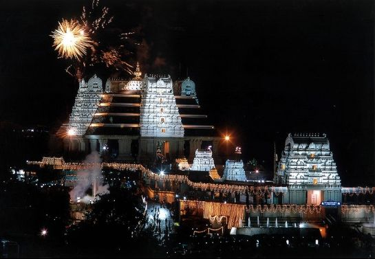 Bangalore Photos - Iskcon Temple - Beauitful view in night