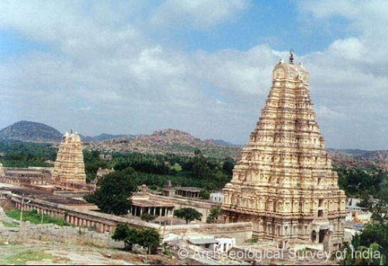 Hampi photos, Virupaksha Temple - A Distant view