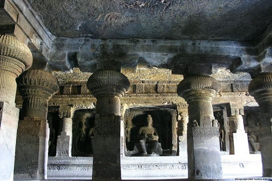 Ellora photos, Buddhist Group Of Caves - Buddha Inside A Cave