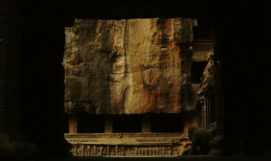Ellora photos, Buddhist Group Of Caves - A Sculptured Wall