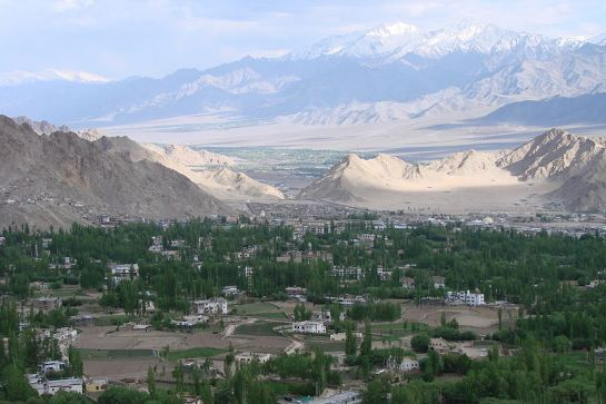Leh photos, View of Leh from Shanti Stupa