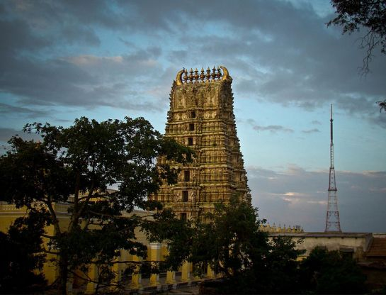 Mysore photos, Chamundi Hills - Temple Outer View