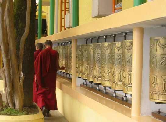 Dharmashala photos, Tsuglagkhang - Prayer Wheels at the Temple