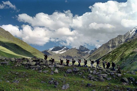 Dharmashala photos, Trekking - Adventurous Trekkers in Action