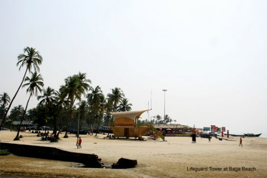 Goa photos, Baga Beach - Life Guard Tower