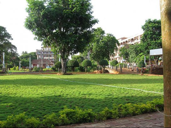 Goa photos, Margoa - Green Grass at the Muncipal Park