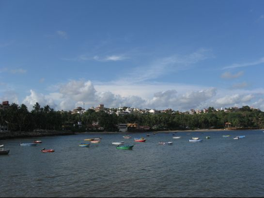 Goa photos, Dona Paula - Boats on the placid waters