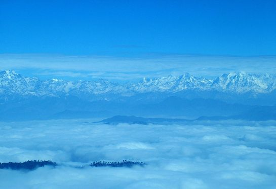 Almora photos, Binsar - Blue Shades