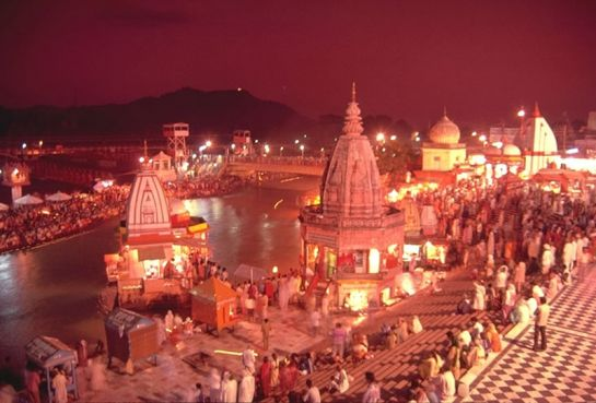 Haridwar photos, Har Ki Pauri - An evening view