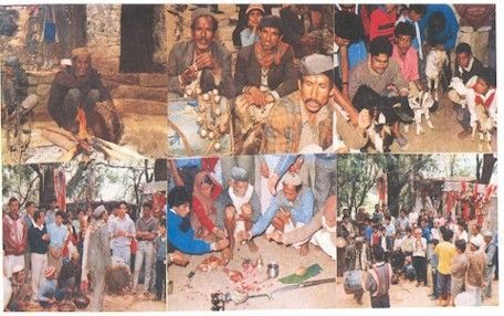 Pithoragarh photos, Kot Gari Devi - Devotees at the Temple
