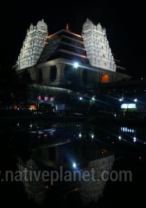 Bangalore photos, Iskcon Temple - Night View