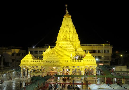 ambaji_temple - Night time