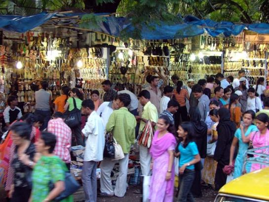 Mumbai photos, Fashion Street - Crowded Streets
