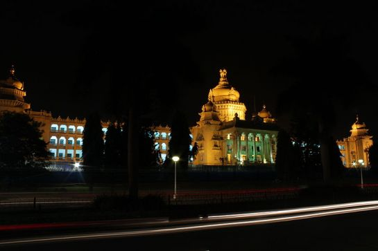 Bangalore photos, Vidhana Soudha - Night view
