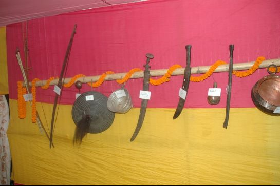 Jorethang photos, Maghey Mela - Weapons