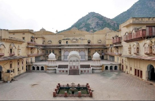 Alwar photos, City Palace - A Distant View