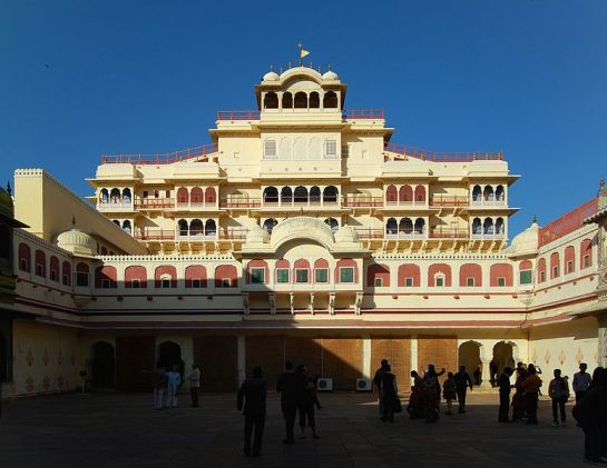 Jaipur photos, Chandra Mahal - Front View