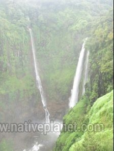 Satara photos, Thoseghar Waterfall - A Panoramic View