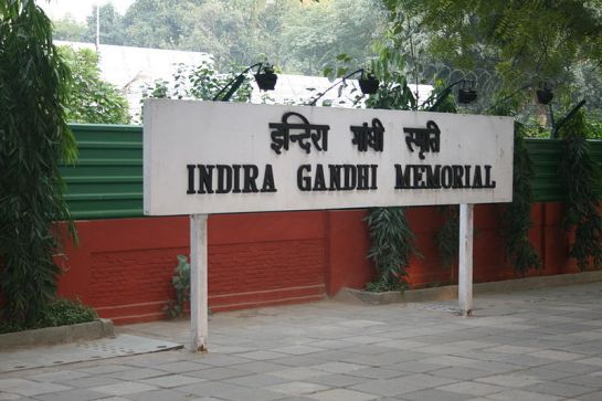Delhi photos, Indira Gandhi Museum - Sign Board