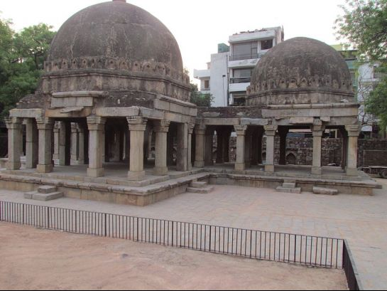 Delhi photos, Hauz Khas Complex - Domed Structures