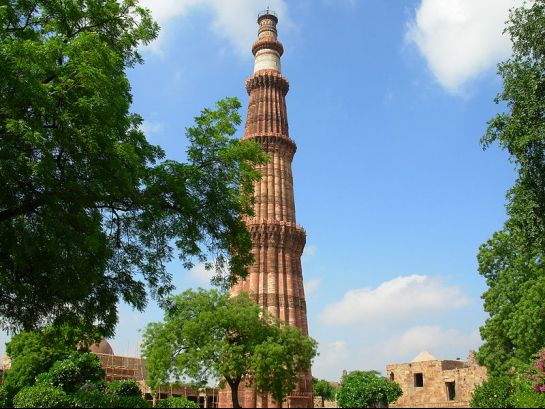 Delhi photos, Qutub Complex - As Seen From The Gardens