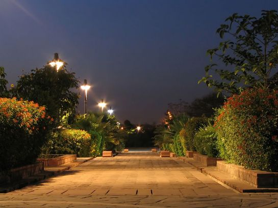 Delhi photos, Garden of Five Senses - Night View