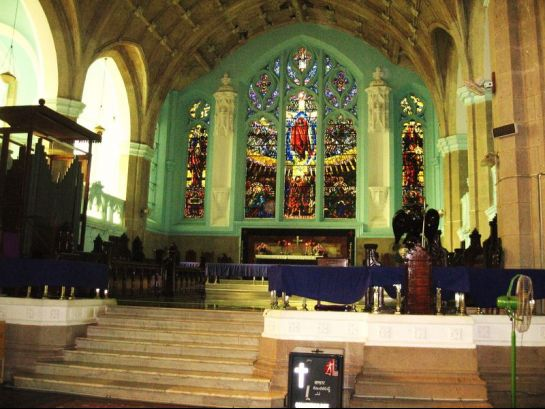 Medak photos, Medak church - Inner view of the church