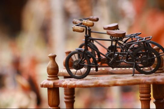 Hyderabad photos, Shilparamam - Handicrafted bikes
