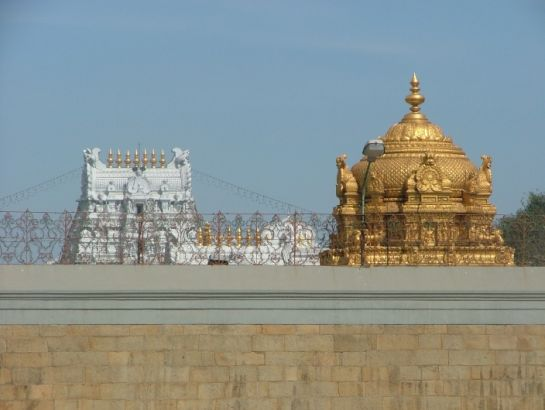 Tirupati photos, Tirumala Venkateswara Temple - Golden Gopuram