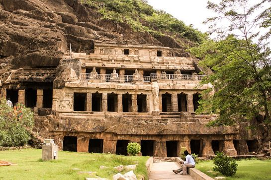 Vijayawada photos, Undavalli Caves - Beautiful View