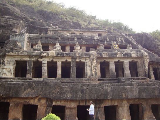 Vijayawada photos, Undavalli Caves - Beautiful Rock Temple