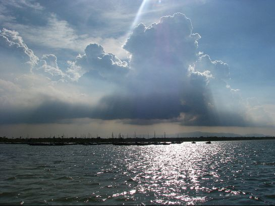Nellore photos, Pulicat lake - Silver-lined Clouds