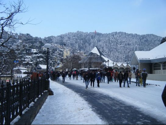 Shimla photos, Ridge - An elevated view