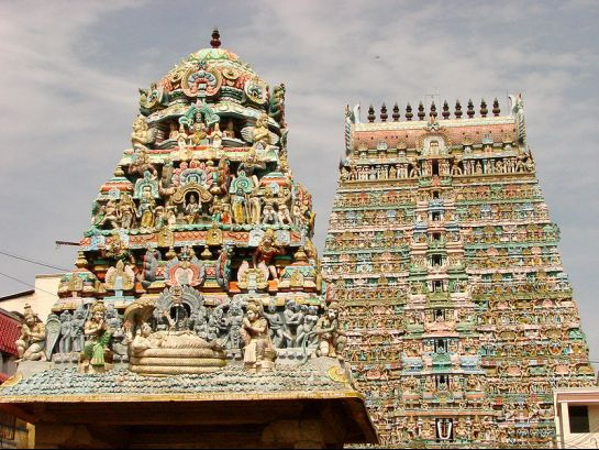 Kumbakonam photos, Sarangapani temple - Gopuras of the temple