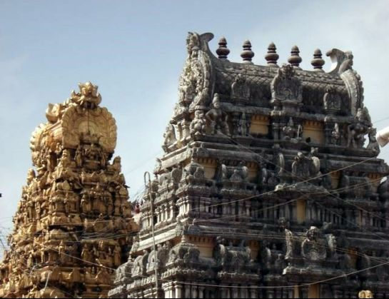 Kanchipuram photos, Kamakshi Amman Temple - Twin Gopurams