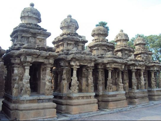 Kanchipuram photos, Kailasanathar Temple - Row of pillars