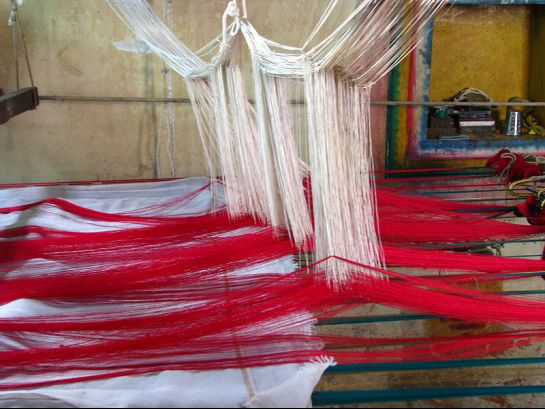 Kanchipuram photos, Silk Sari Weaving