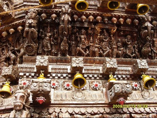 Trichy photos, Gunaseelam Temple - God and Goddesses carved