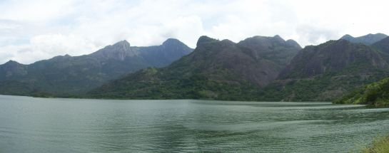 Pollachi photos, Aliyar Dam - Panoramic View