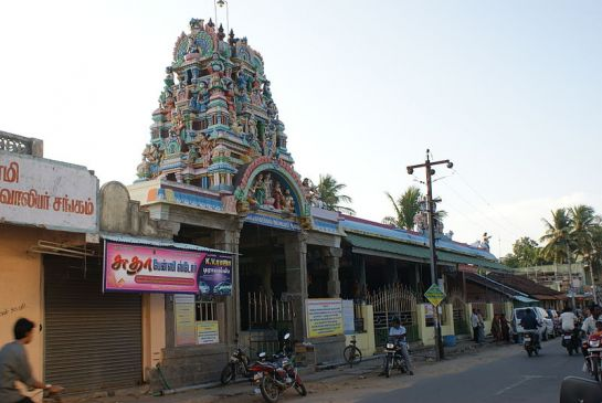 Karaikal photos, Karaikal Ammaiyar Temple - A outer view