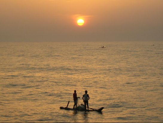 Pondicherry photos, Pondicherry Beach - Golden Evening