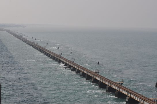 Rameshwaram photos, Pamban Bridge - A Complete View