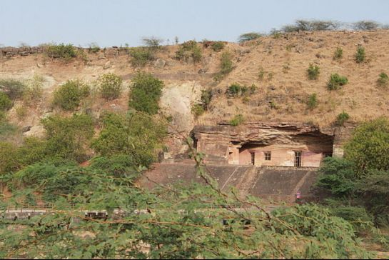 Mandu photos, Bagh Caves - A distant view